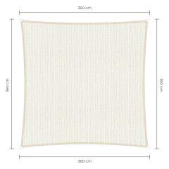 Sunfighters Quadratisch Weiß 3,6x3,6
